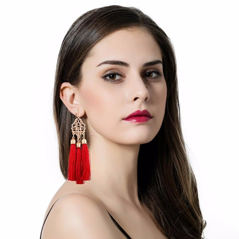 Long Tassel Fringe Dangle Earrings - Wave Essentials