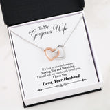 Husband to Wife Interlocking Heart Necklace