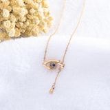 Evil Eye Love Projection Necklace