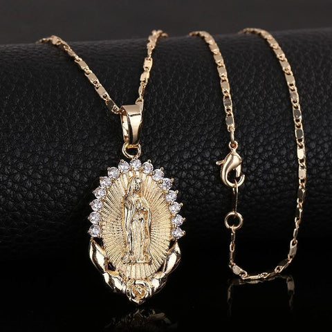 virgin-mary-pendant-necklace-gold-plated-mother-jesus-christ-catholic-christian-acessories-jewelry-for-women