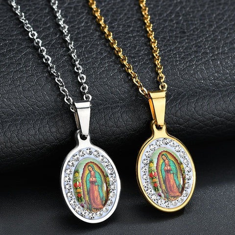 Stainless Steel Virgin Mary Necklace