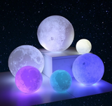 3-D Color Changing Moon Lamp