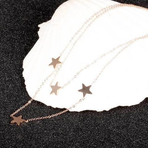 Stainless Steel Stars Choker Necklace
