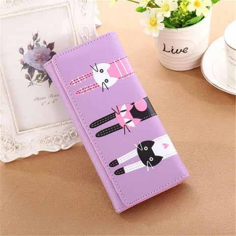 Cute Cats Purple Wallet