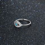 Sterling Silver Turquoise Evil Eye Ring