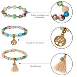 Boho Beaded Tree of Life Bracelet