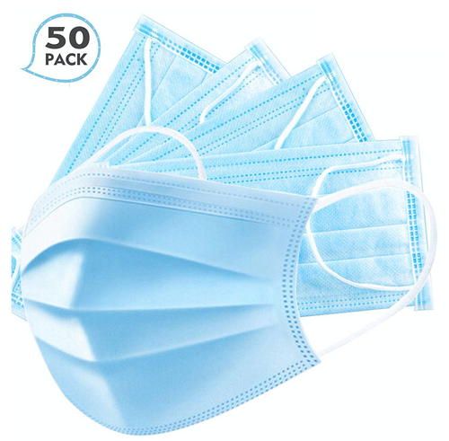 Three Ply Disposable Masks - 50 Units
