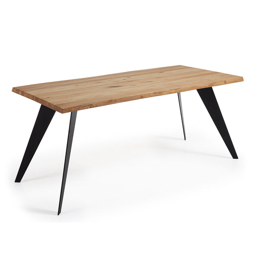 Mesa Koda 180 cm roble natural patas negro