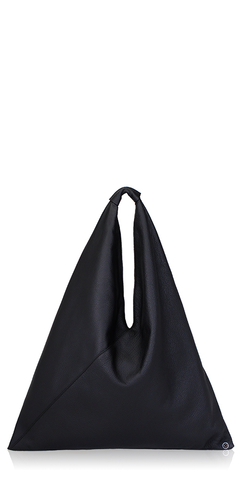 Leather Triangle Tote