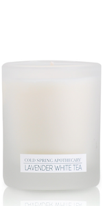 Lavender white tea candle