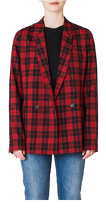 DB Blazer in Red Plaid
