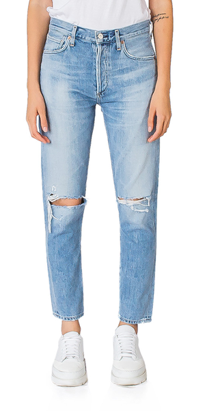 Liya High Rise Classic Fit Jeans in Torn