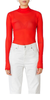 Mesh Turtleneck Red