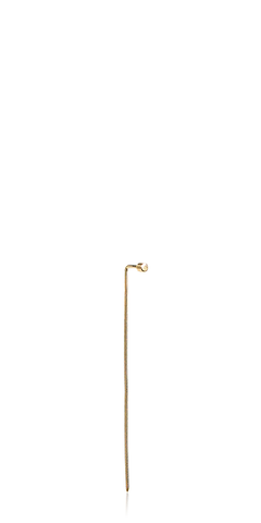 Yellow Gold Pistol Stick Earring