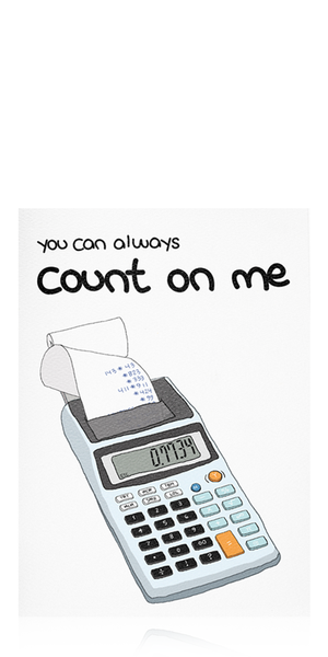 Count on Me Card