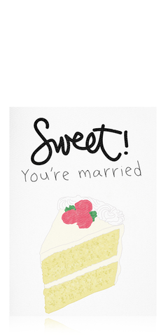 Sweet! You're Married Card