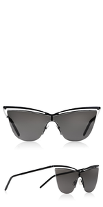Black Metal Cat Eye Sunglasses