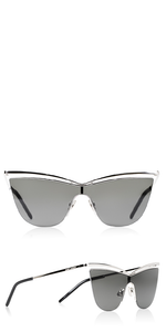Silver Metal Cat Eye Sunglasses