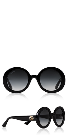 GG Round Black Sunglasses