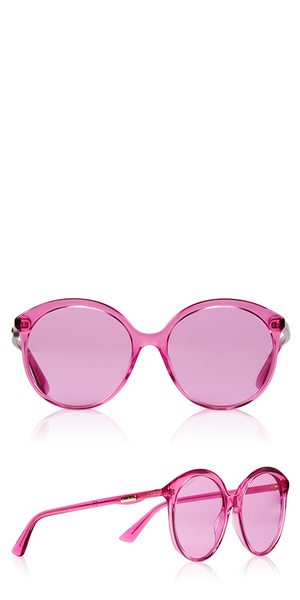 Monocolor Round Pink Sunglasses