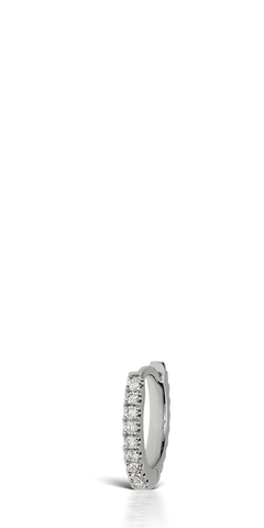 White Gold Diamond Eternity Earring