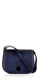 Large Saddle Bag Navy Lizard