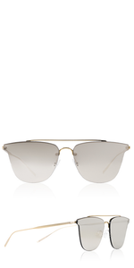 Ultra Flat Gold Square Aviator Sunglasses