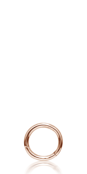 Rose gold small hoop earring