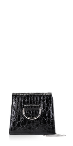 Tiny Box D Black Croc