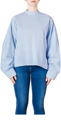 Striped Wide Sleeve Blouse