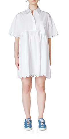 Cotton Pleated Shirtdress