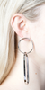 Gold Interlocking Hoop Earring