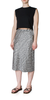 Printed Drawstring Silk Charmeuse Skirt