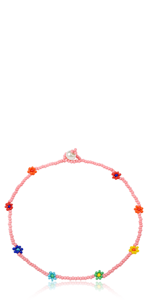 Chaquira Pink Anklet