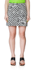 Checkerboard Denim Skirt