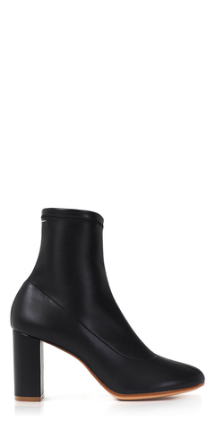 Eco Stretch Leather Ankle Boots
