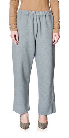 Raw Edge Hem Sweatpants