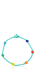 Chaquira Turquoise Anklet