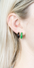 Mini Jade Stone Hoops