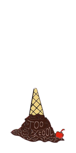 Too Cool Cone pin