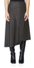 Check Plaid Drape Skirt