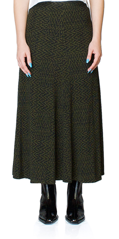 Curie Tiled Chevron Knit Skirt