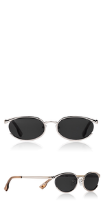 Tres Solo Oval Metal Sunglasses