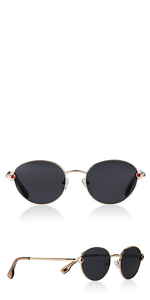 Vamp Round Metal Sunglasses