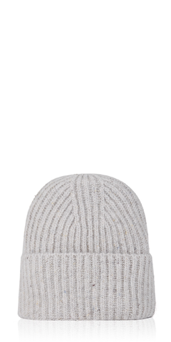 Ribbed Cashmere Beanie Buttermilk