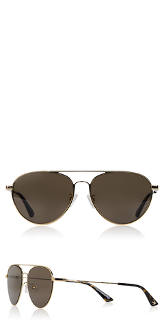 MQ0246SA Gold Metal Aviator Sunglasses