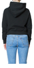 The Crop Hoodie Black