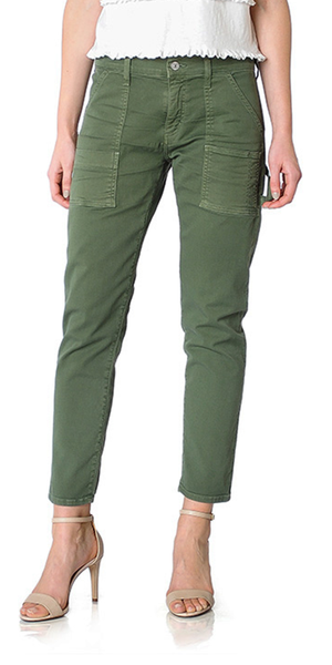 Leah Cargo Pants in Canopy Green