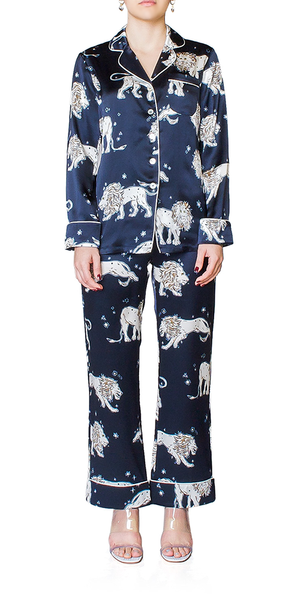 Lila Nefertiti Silk Pajamas