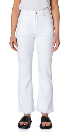 Drew Fray Jeans in Optic White